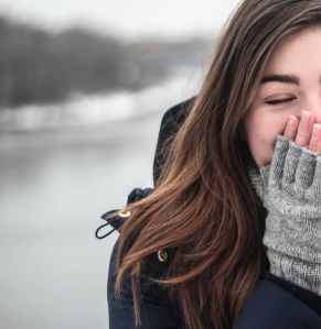 woman winter gloves winter clothing